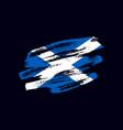grunge textured scottish flag vector image
