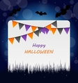 Halloween Invitation with Bunting Pennants vector image vector image