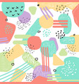 hand drawn pattern geometric shapes and doodles vector image vector image