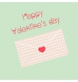 Happy valentines day design template envelope vector image vector image