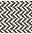 houndstooth fabric seamless pattern vector image