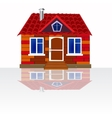 House on white background vector image vector image