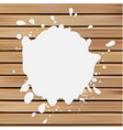 Isolated white color blotch logo Milk vector image