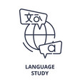 language study line icon concept language study vector image