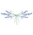 lavender flower wreath ornament formed by small vector image vector image
