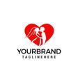 love couple wedding logo design template vector image