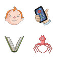 man education and other web icon in cartoon style vector image vector image