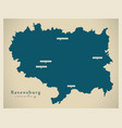 modern map - ravensburg county baden vector image vector image