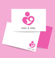 mom and baby logo identity vector image vector image