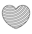monochrome silhouette of diagonal lines in heart vector image vector image