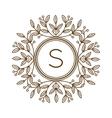 Monogram bage logo vector image