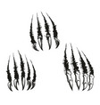 monster beast claws and scratches vector image vector image