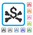 mortal debt framed icon vector image vector image