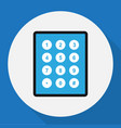 of safety symbol on keypad vector image vector image