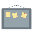 office board icon flat style vector image vector image
