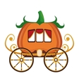 old carriage icon vector image vector image