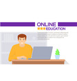 online education man sitting on the table vector image