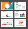 Orange purple green presentation templates set vector image vector image