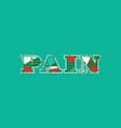pain concept word art vector image vector image