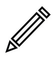 pencil icon with outline style vector image vector image