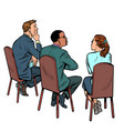 people at a business meeting businessman and vector image vector image