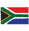 pixelated flag of south africa vector image vector image