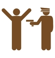 Police icon from Business Bicolor Set vector image vector image