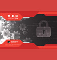 protection concept protect mechanism system vector image vector image