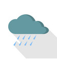 rain icon flat style vector image vector image