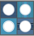 retro ornamental round frames isolated on blue vector image vector image
