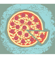 retro pizza vector image vector image