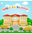 school building for back to school vector image vector image