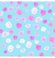 Seamless floral background Isolated beautiful vector image vector image