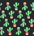 seamless pattern cactuses succulents with nice vector image