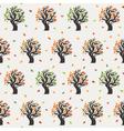 Seamless tree pattern vector image