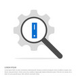 server icon search glass with gear symbol icon vector image