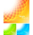 Set of bright backrounds vector image vector image