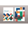 Set of modern geometric business annual report vector image vector image