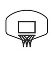 simple basketball hoop net and backboard vector image vector image