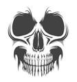 skull portrait tattoo vector image vector image
