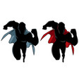 superhero running silhouette vector image vector image