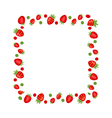 Sweet Frame Made of Strawberry vector image vector image