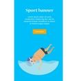 Swimming Man Sports Banner vector image vector image