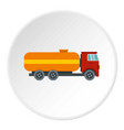 tanker truck icon circle vector image vector image