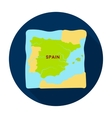 Territory of Spain icon in flat style isolated on vector image vector image