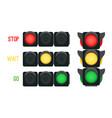 traffic lights concept vector image