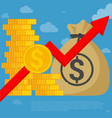us dollar investment and saving vector image vector image