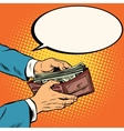 Wallet with cash money business and Finance vector image