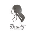 womans hair style stylized sillhouette beauty vector image vector image