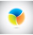 Modern colorful geometrical circle vector image